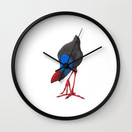 Kooky Pukeko 1/4 Wall Clock