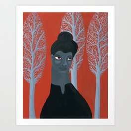 Ida B Wells portrait Art Print