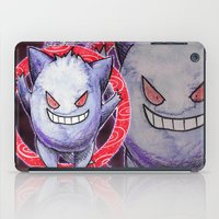gengar iPad Cases featuring 94 - Gengar by Lyxy