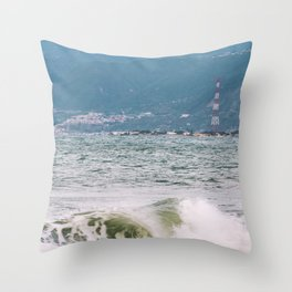 """Scilla and Cariddi "" - Sicily and Calabria Throw Pillow"
