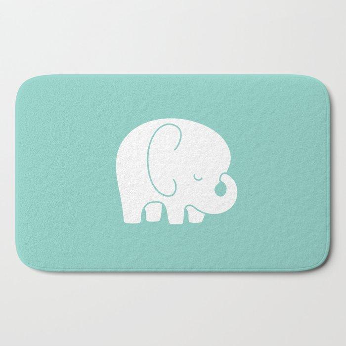 Mod Baby Elephant Teal Bath Mat