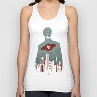 stark Tank Tops featuring Tony Stark by offbeatzombie