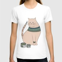ethnic T-shirts featuring Ethnic cat by Emma S