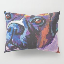 Fun BOXER Dog bright colorful Pop Art Painting by Lea Pillow Sham
