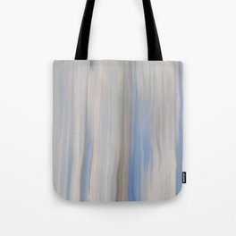 Modern Abstract Blue Lilac Gray Brushstrokes Stripes Tote Bag