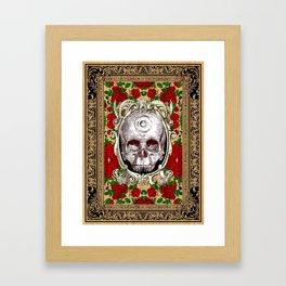 Infinitum - Macabre Gothic Skull Framed Art Print