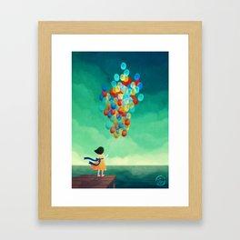 Time to let go Framed Art Print