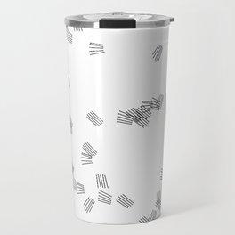 Black & white puzzle Travel Mug