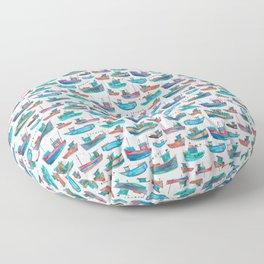 Fishing Boats Floor Pillow