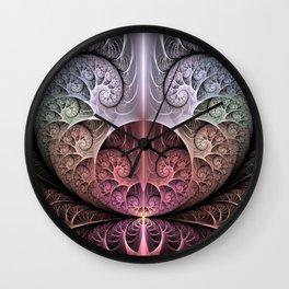 Abstract Heart, Fractal Art Wall Clock