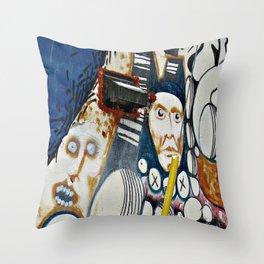 Scrapwood Alley Throw Pillow