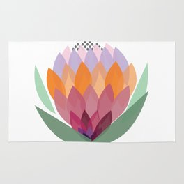 South African King Protea flower Rug