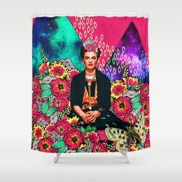 Galaxy Frida Shower Curtain