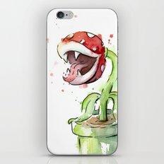 Piranha Plant Art iPhone & iPod Skin