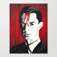 dale cooper Canvas Prints featuring Agent Dale Cooper by Narnia Tattoos