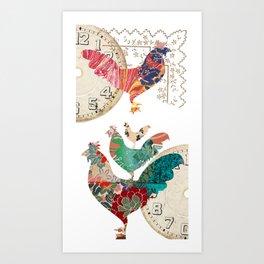 公雞啼 Art Print