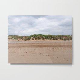 Beach - Dunes - Clouds Metal Print