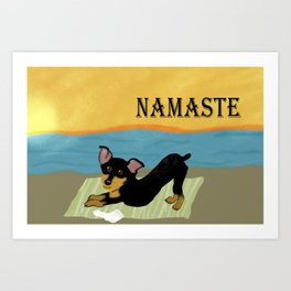 Namaste Yoga Min Pin Art Print