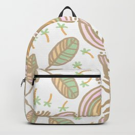 Rainbow No. 9- golden floral pattern Backpack