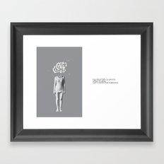 can't stand rain  Framed Art Print