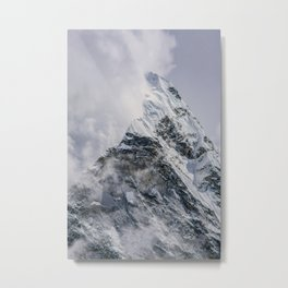 Snow Capped Peak Metal Print