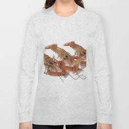 Fresh Cornish Langoustines Long Sleeve T-shirt