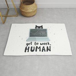 Get to work, Human! Rug