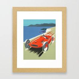 Vintage Racing Car Framed Art Print