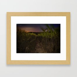 Screw light I have a cable release Framed Art Print
