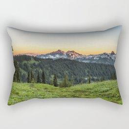 Looking Towards Tatoosh Range Rectangular Pillow