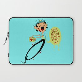 Save Your Blood For The Children Laptop Sleeve