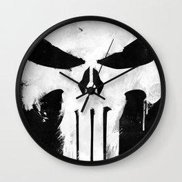 Punisher White Wall Clock