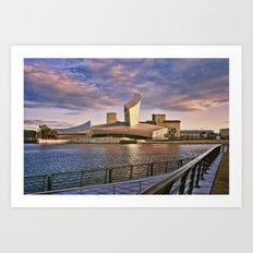 Sunset on The Imperial War Museum Art Print