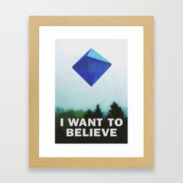 I WANT TO BELIEVE - 5TH ANGEL Framed Art Print