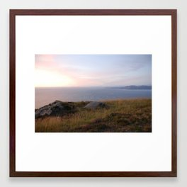 Vestkapp in the evening Framed Art Print
