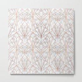 Art Deco Marble & Copper Metal Print