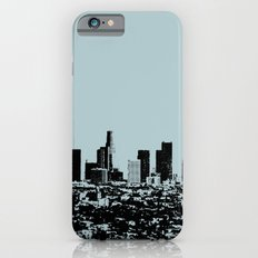 Downtown Los Angeles Skyline - Stamp Pattern on Light Blue iPhone 6s Slim Case
