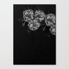 Gray flowers canvas prints society6 gray flowers in the corner canvas print mightylinksfo