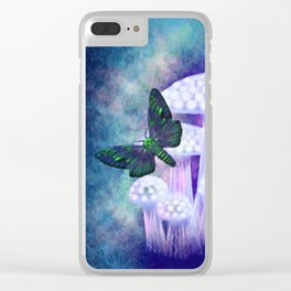 Midnight Moths Clear iPhone Case
