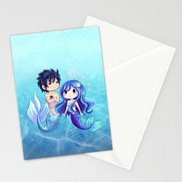 Gray and Juvia Mermaids Stationery Cards