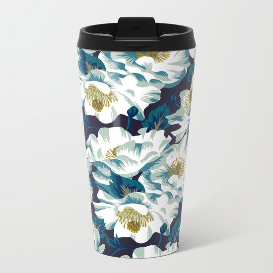 Mount Cook Lily (Night) Metal Travel Mug
