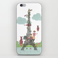 eiffel tower iPhone & iPod Skins featuring Eiffel Tower by ShangheeShin
