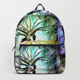 Palm Tree Collage Backpack
