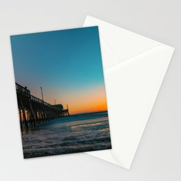 Sunset Foam at Newport Pier Stationery Cards