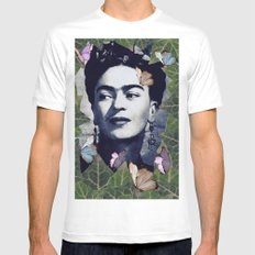 Frida the one White LARGE Mens Fitted Tee
