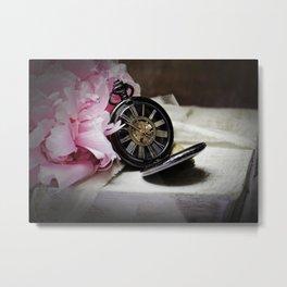 vintage clock_7 Metal Print