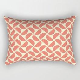 HALF-CIRCLES, CORAL Rectangular Pillow