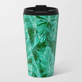 Green With Envy Layered Leaf Textures Travel Mug