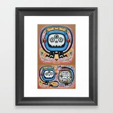 Les mots du chaman Framed Art Print