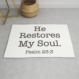 He  Restores My Soul.  Psalm Rug